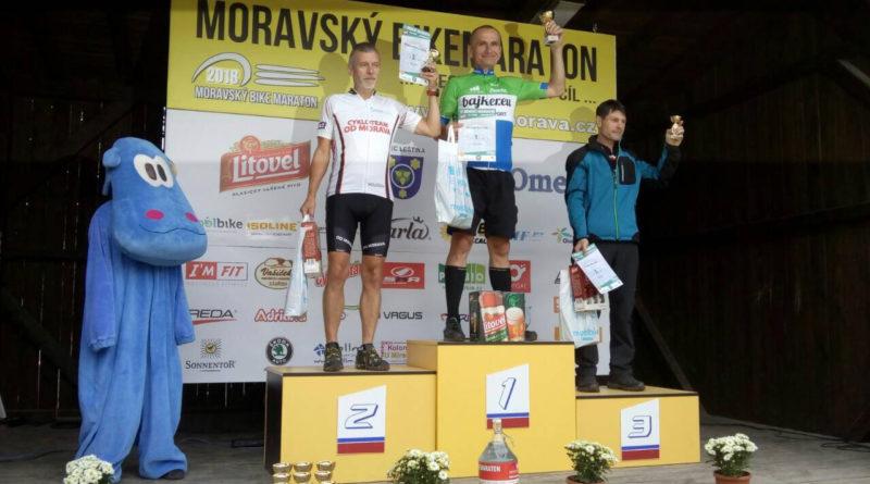 První místo na 80 km Moravského bikemaratonu